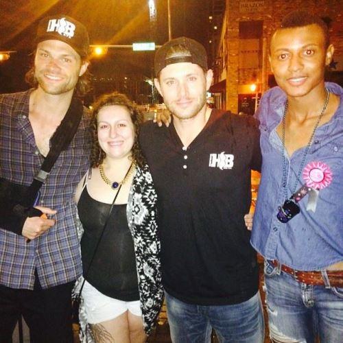 Jared Padalecki, Jensen Ackles e fãs em Austin TX