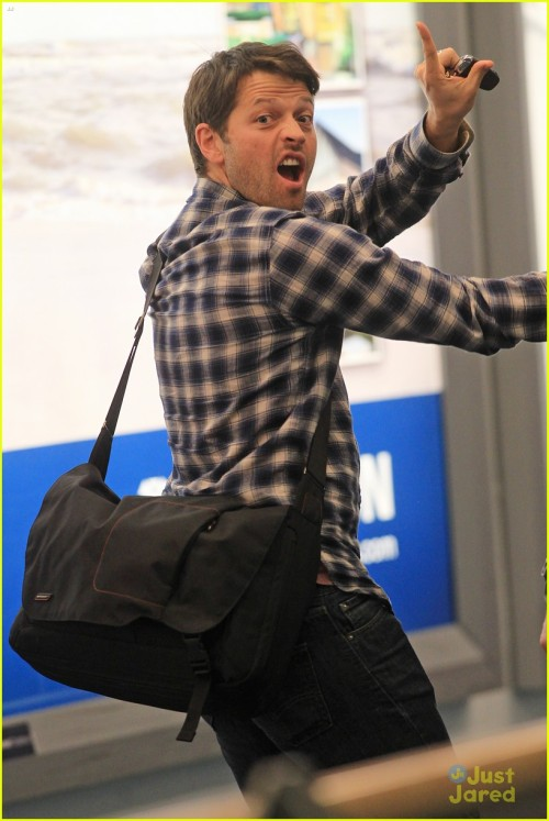 *EXCLUSIVE* 'Supernatural' star Misha Collins goofs off for our cameras