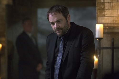 "Supernatural -- ""The Bad Seed"" -- Image SN1101A_0144.jpg -- Pictured: Mark Sheppard as Crowley -- Photo: Katie Yu /The CW -- © 2015 The CW Network, LLC. All Rights Reserved."