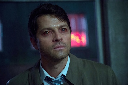 "Supernatural -- ""The Bad Seed"" -- Image SN1101B_0084.jpg -- Pictured: Misha Collins as Castiel -- Photo: Diyah Pera /The CW -- © 2015 The CW Network, LLC. All Rights Reserved."