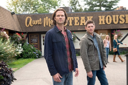 "Supernatural -- ""Baby"" -- Image SN1104A_0045.jpg -- Pictured (L-R): Jared Padalecki as Sam and Jensen Ackles as Dean -- Photo: Diyah Pera /The CW -- © 2015 The CW Network, LLC. All Rights Reserved."