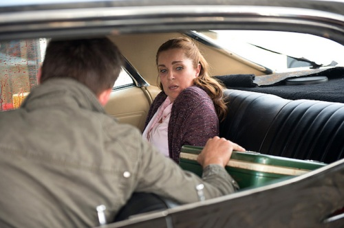 "Supernatural -- ""Baby"" -- Image SN1104A_0217.jpg -- Pictured (L-R): Jensen Ackles as Dean and Sarah-Jane Redmond as Lily Markham  -- Photo: Diyah Pera /The CW -- © 2015 The CW Network, LLC. All Rights Reserved"