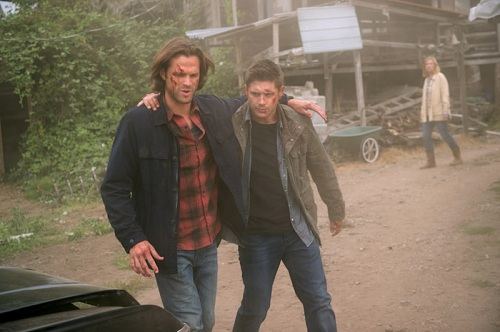 "Supernatural -- ""Baby"" -- Image SN1104B_0064.jpg -- Pictured (L-R): Jared Padalecki as Sam and Jensen Ackles as Dean -- Photo: Diyah Pera /The CW -- © 2015 The CW Network, LLC. All Rights Reserved"