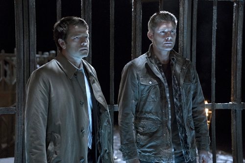"Supernatural -- ""The Devil in The Details"" -- Image SN1110b_0034 -- Pictured (L-R): Misha Collins as Castiel and Jensen Ackles as Dean -- Photo: Katie Yu/The CW -- © 2016 The CW Network, LLC. All Rights Reserved."